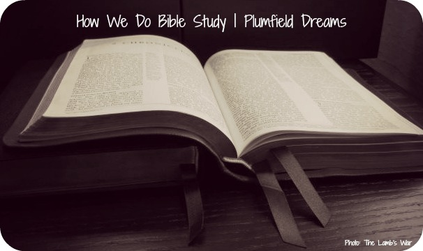 Plumfield Dreams: How We Do Bible Study