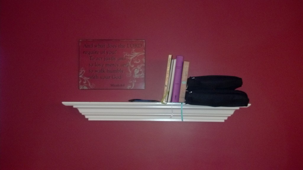 Dining Room Bible Shelf